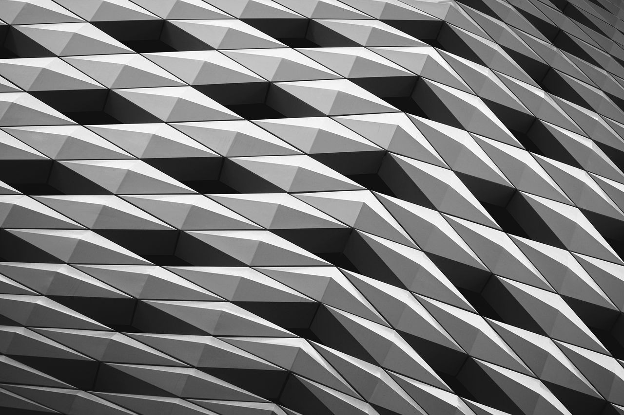 Abstract Architecture Blackandwhite Building Exterior Contrast Geometry Pattern Repetition