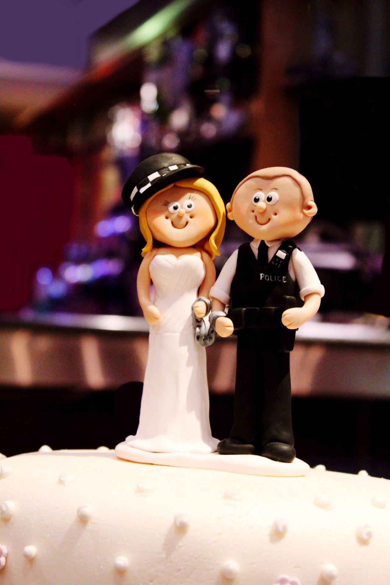 Wedding cake scene Wedding Human Representation Indoors  Figurine  Wedding Cake No People Close-up