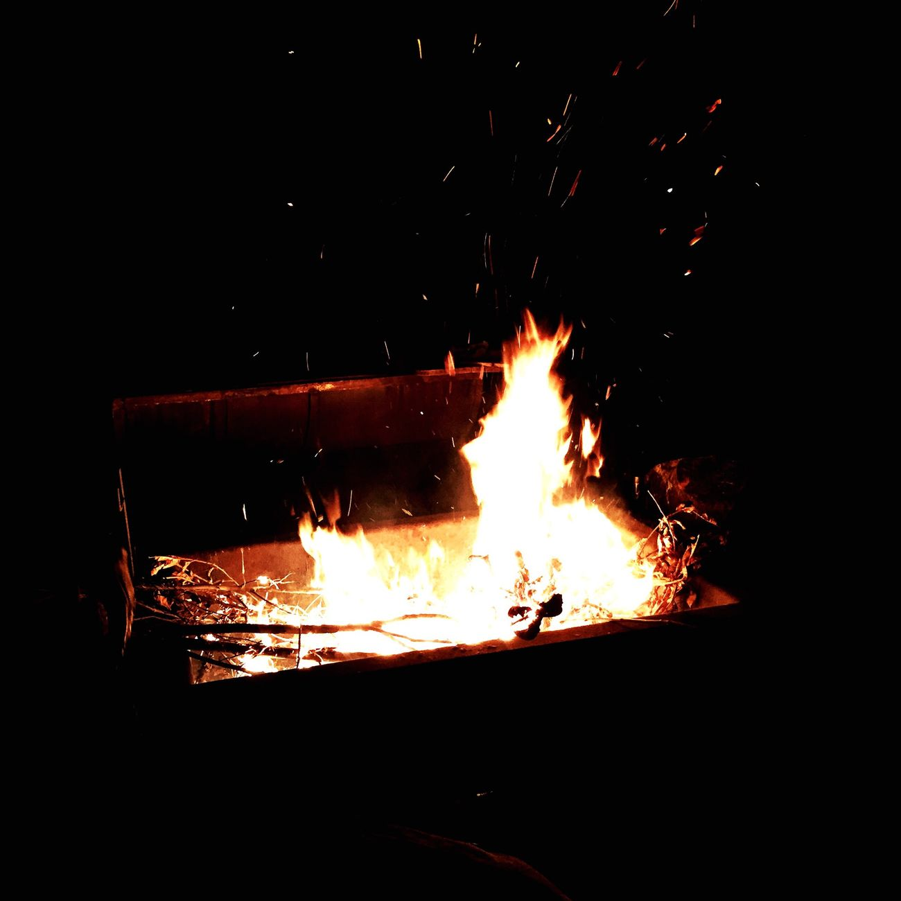 Ritual nocturno en los campos de la familia Nuñez.