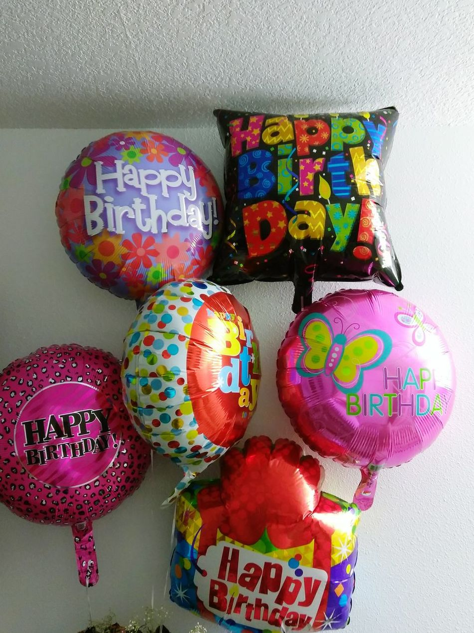Multi Colored Birthday Balloms flowers