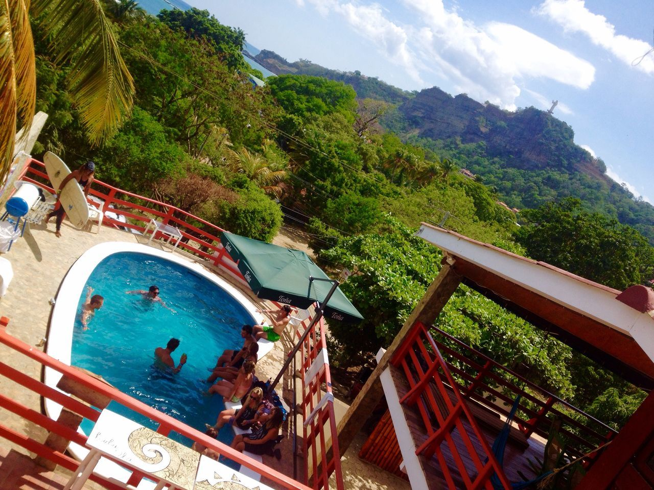 Hola ola hostal, san Juan del sur Nicaragua San Juan Del Sur , Nicaragua Hostal Pool Paradise Jesus Statue Sunshine