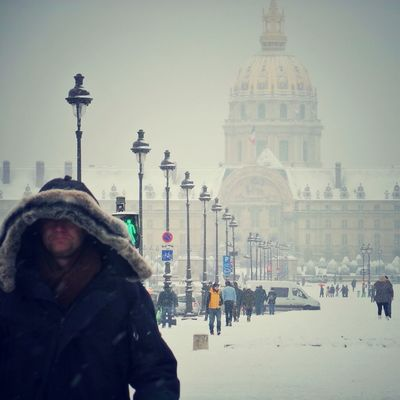 snow in Paris by Cecile_and_co
