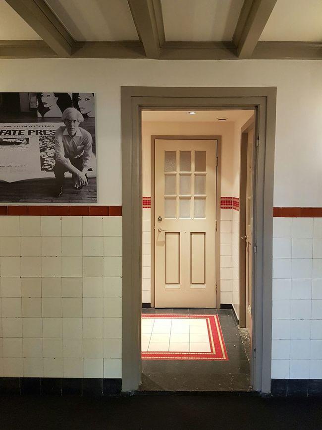 Door No People Architecture Exit Sign Indoors  Day