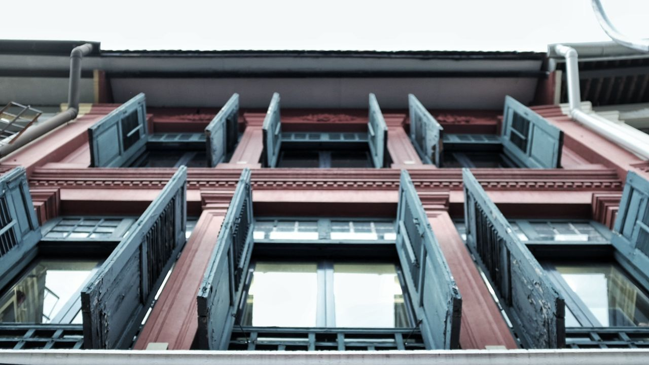 architecture, building exterior, built structure, low angle view, window, no people, day, outdoors