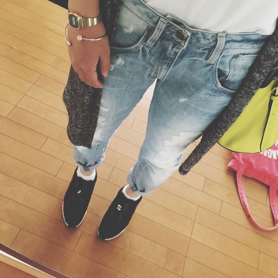 go shopping!! ひまな日はつくらない!! Fashion OSAKA Shopping ♡ Sneakers Puma Denim G Star Raw Bag Kate Spade Watch Casio Bangle Swarovski