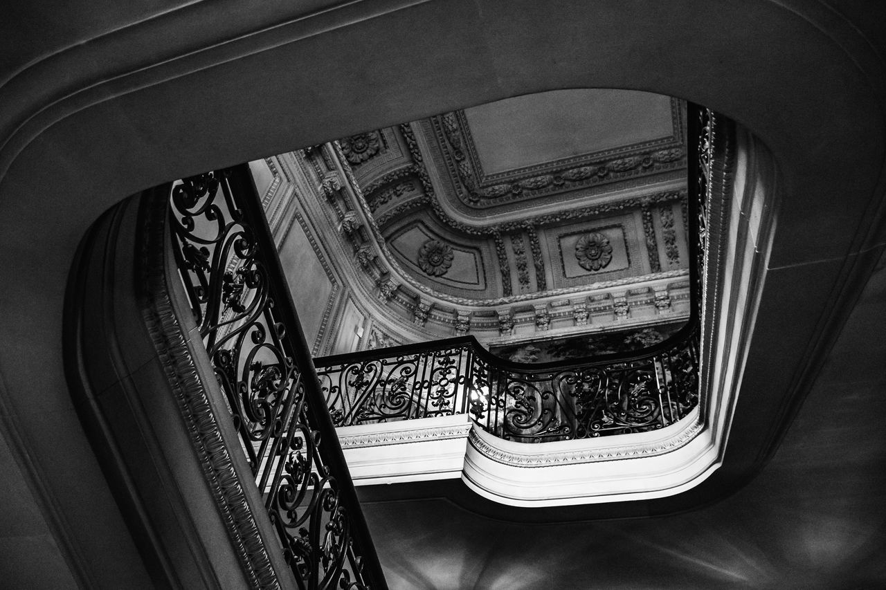 Geometry Black And White Decor Geometry Interior Marble Shapes Staircase Stairs Stairway