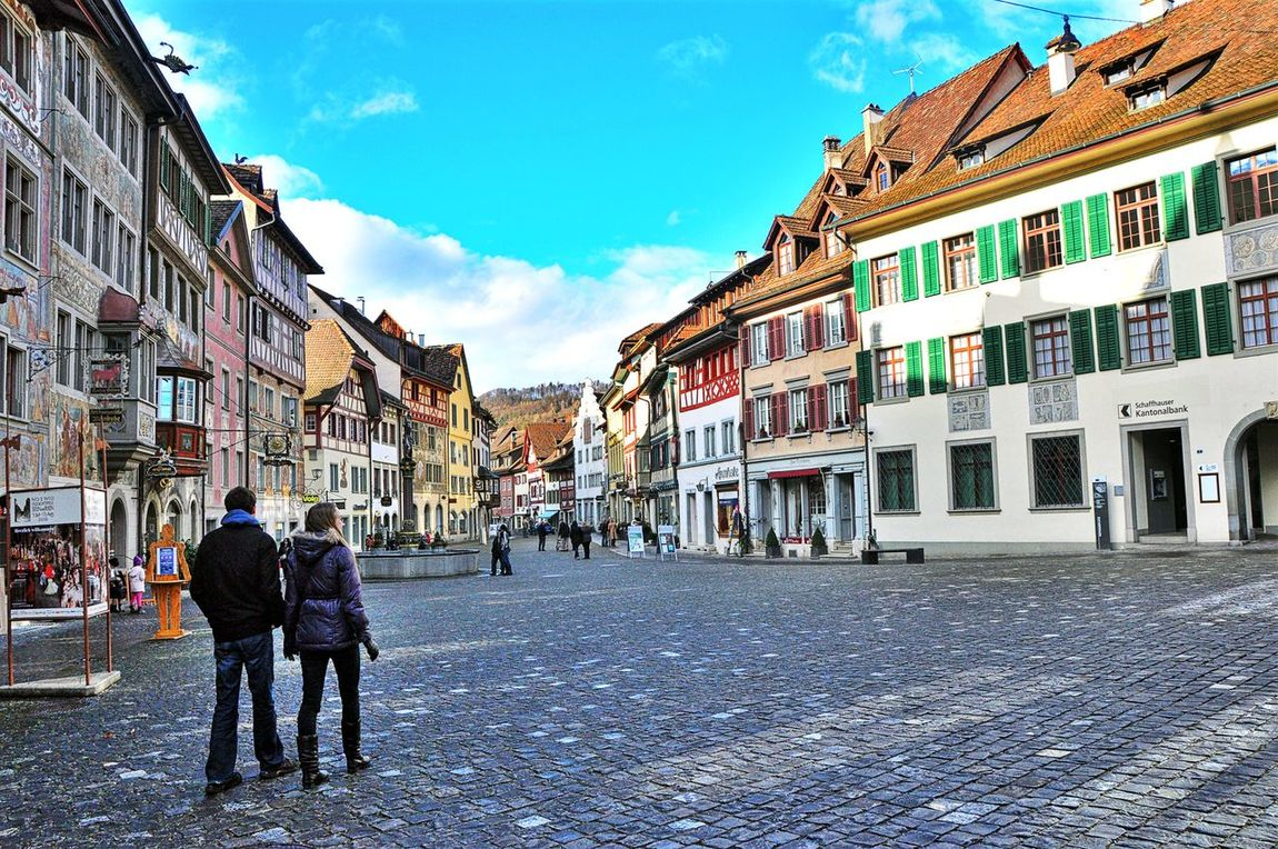 Architecture Building Exterior Built Structure City Day Destinations Germany Outdoors Real People Sky Street Tourism Traveling Viilage Walking