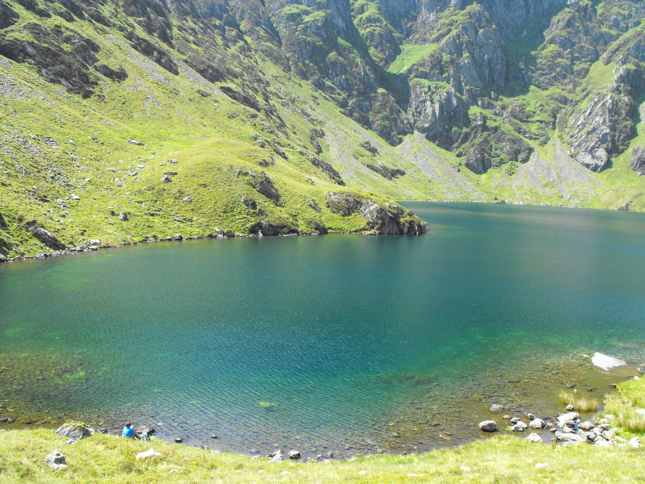 Mountain Lake in the Spring, North Wales Adventure Beauty In Nature Blue Blue Green  Cadair Idris Cader Idris Clear Lake  Day Exploring Green Color Hiking Lake Landscape Landscapes Mountains Nature Outdoors Scenics Snowdonia Spring Springtime Tourism Travel Wales Water