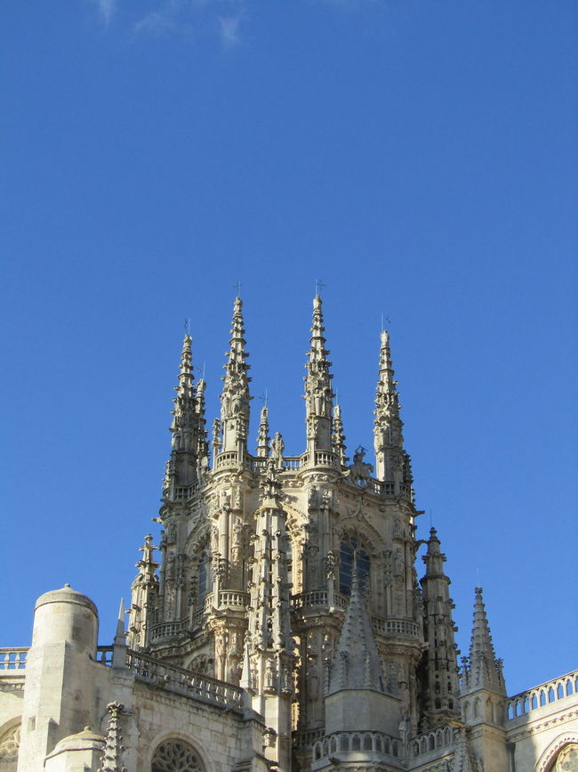 Santa Maria Architecture Tower Burgos SPAIN Spanien Way Of Saint James Jakobsweg Kathedrale Cathedral Place Of Worship Religion Clear Sky Building Exterior Travel Destinations Summer Sommer Pilgrimage Stadt City