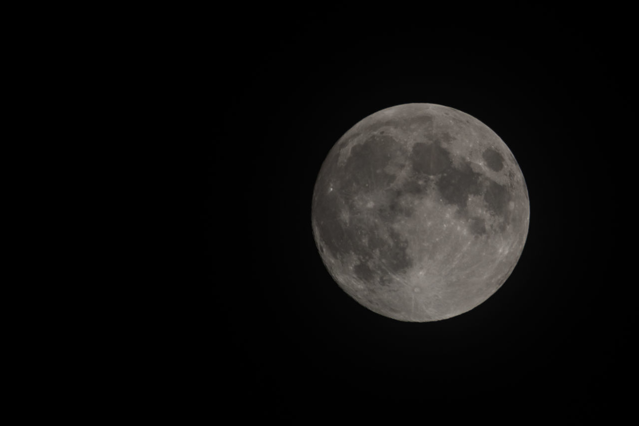 Full Moon (shortly after midnight) Astronomy Beauty In Nature Black Background Close-up Copy Space Full Moon Moon Moon Surface Nature Night Night Photography No People Outdoors Planetary Moon Sky Space