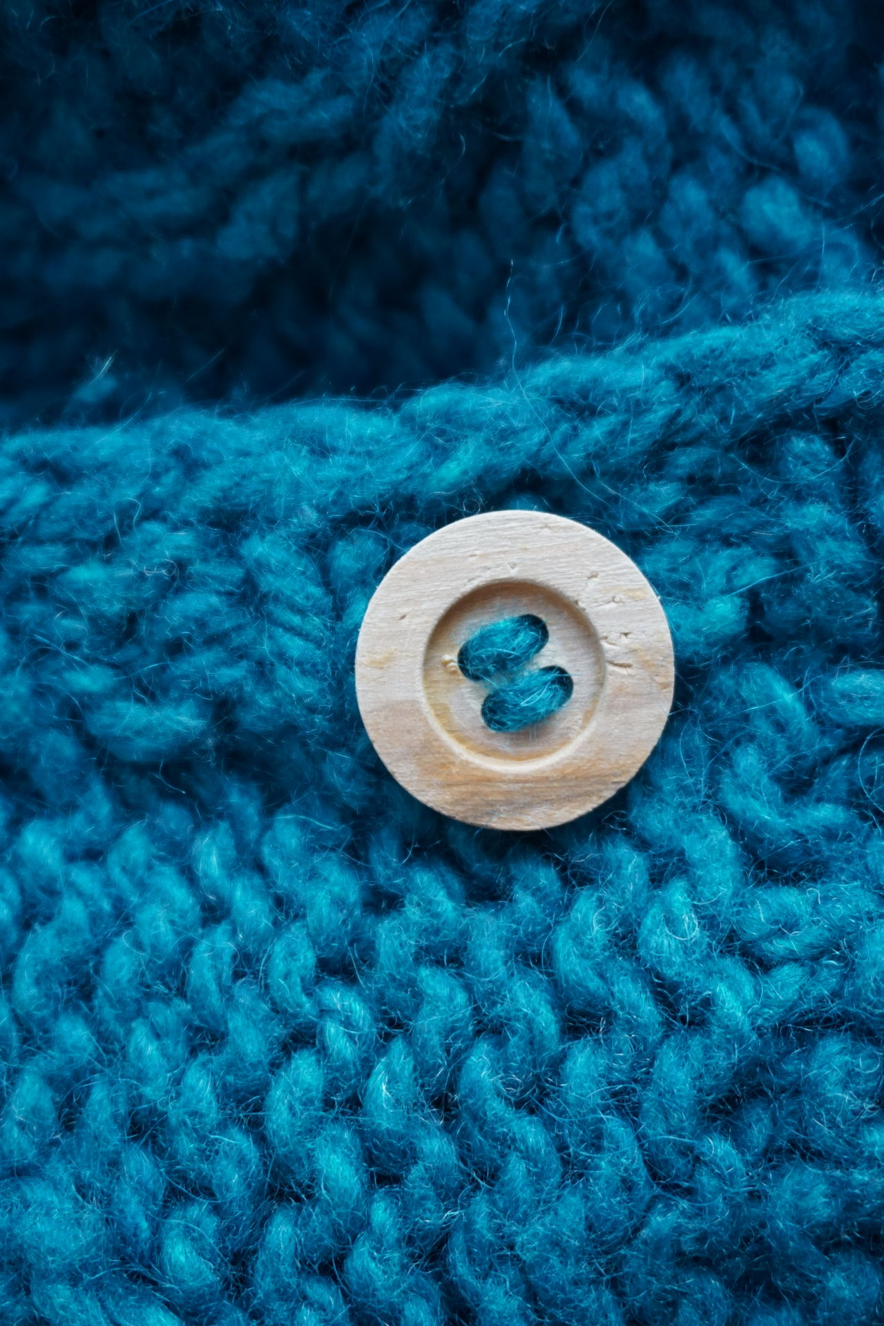 Blue Textured  No People Close-up Jacket Woolen Wool Wood - Material Button Buttons Handmade DIY Knitted  Knitted  Norway