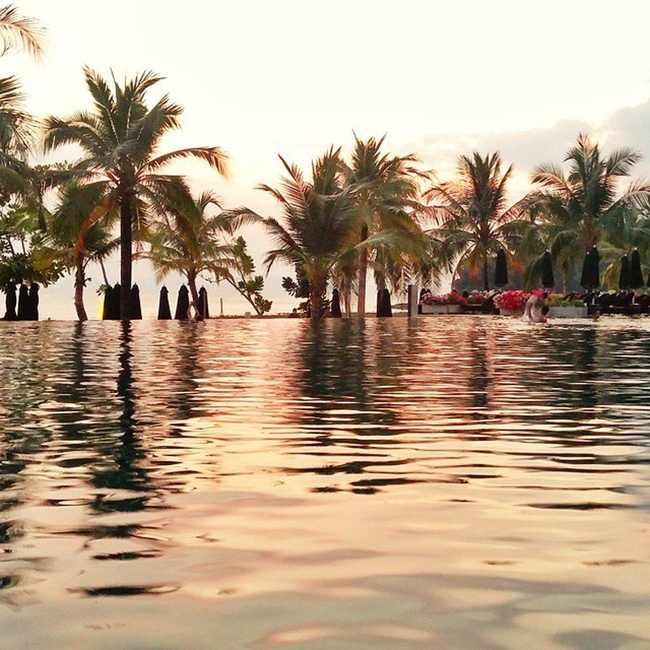 รูปเก็บ(พระอาทิตย์)ตก Sunset Pool Swimming Krabi beyondresort Thailand