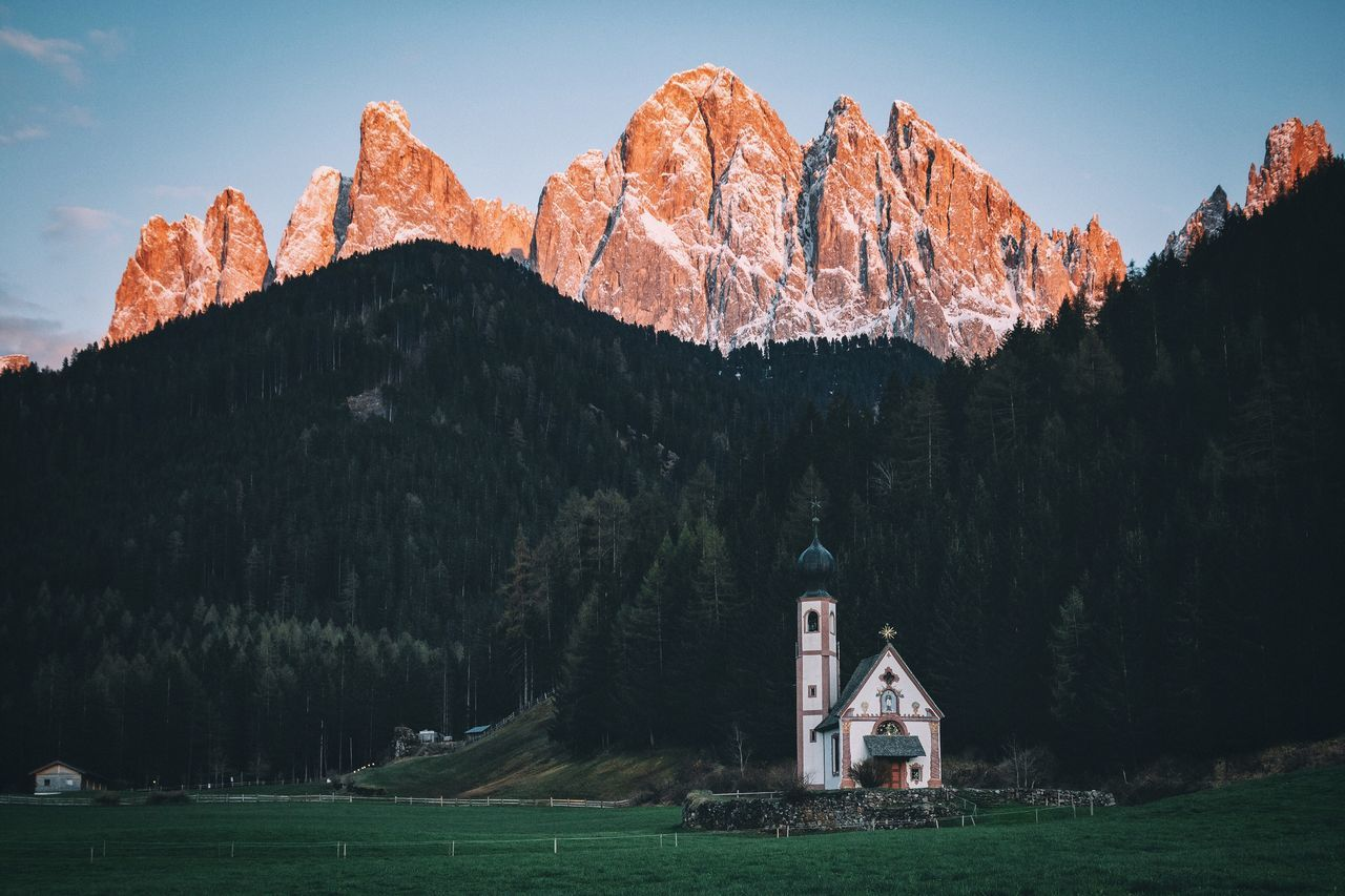 Deep Purple Travel Destinations Remote Mountain Beauty In Nature EyeEm Best Shots Outdoors Rural Vacations Travel Folk Vscocam VSCO Explore The Great Outdoors - 2016 EyeEm Awards Landscape Spring Nature Sunset Sky Mountain Range Dolomites, Italy Italy