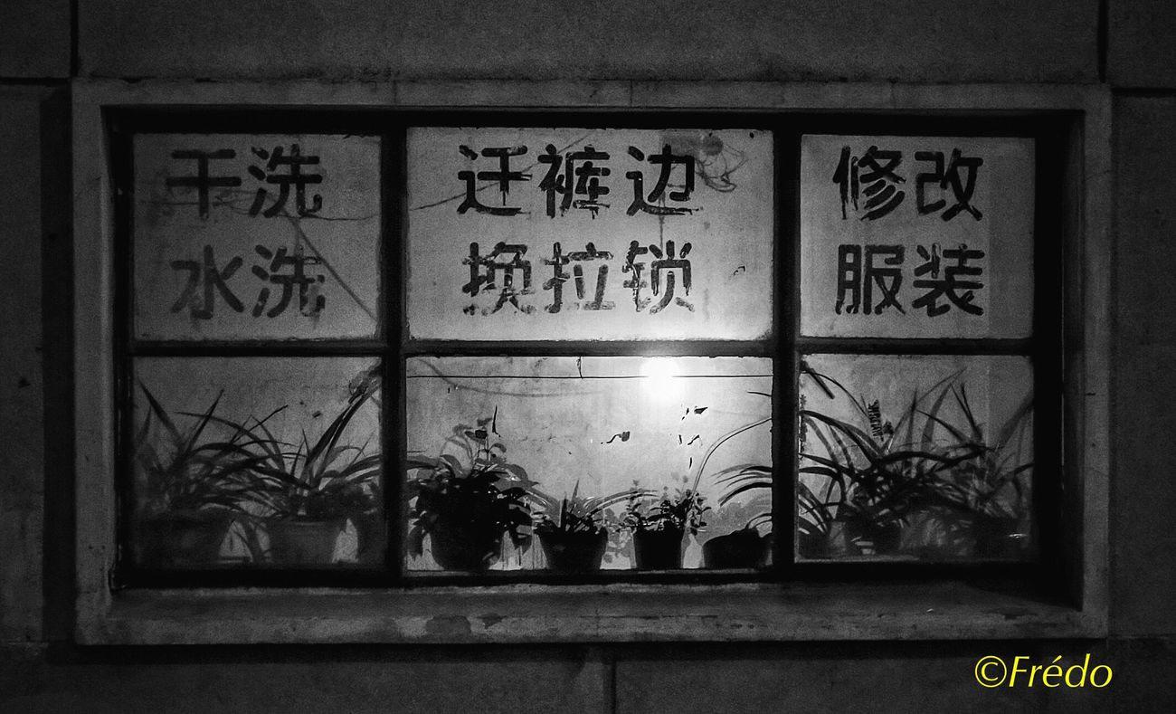 Petite fenêtre sur ma Chine Text Potted Plant Plant Indoors  Architecture No People Street Photo EyeEm Best Shots Eyeemphotography Street Photos😄📷🏫⛪🚒🚐🚲⚠ The Street Photographer - 2017 EyeEm Awards BEIJING北京CHINA中国BEAUTY Eyem In Beijing Beijing, China Monochrome Photography Photooftheday Photography Photo Of The Day Eyem Gallery Monochrome _ Collection Night Live For The Story Streetphotography Street Front View