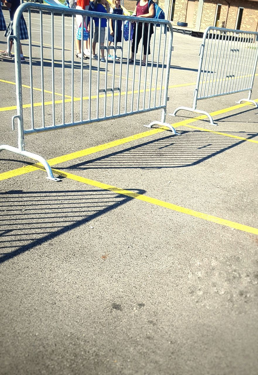 railing, sunlight, day, outdoors, yellow, no people