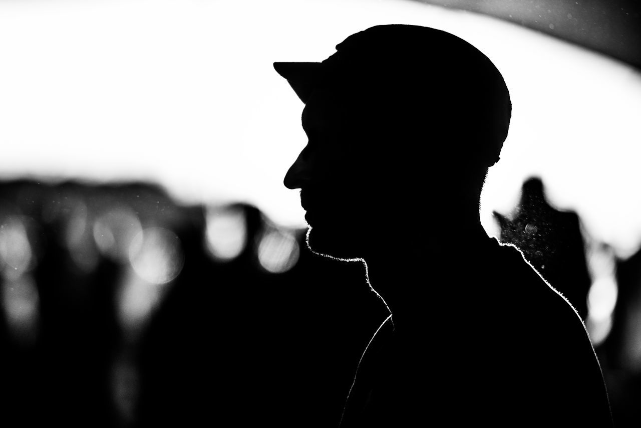 Blackandwhite Close-up Day Focus On Foreground Leisure Activity Lifestyles Men One Person Outdoors People Real People Silhouette Young Adult