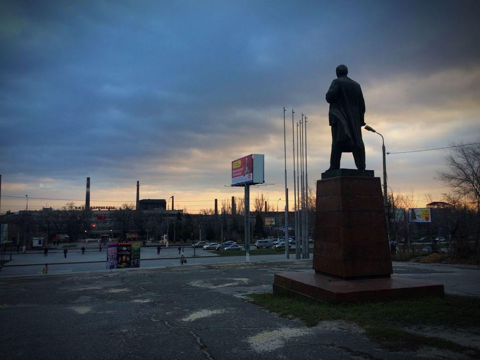 Lenin Sunset Sun Sky Volgograd Russia Enjoying The View Enjoying Life Enjoying Nature Monument Ussr Eye4photography  EyeEm Best Shots