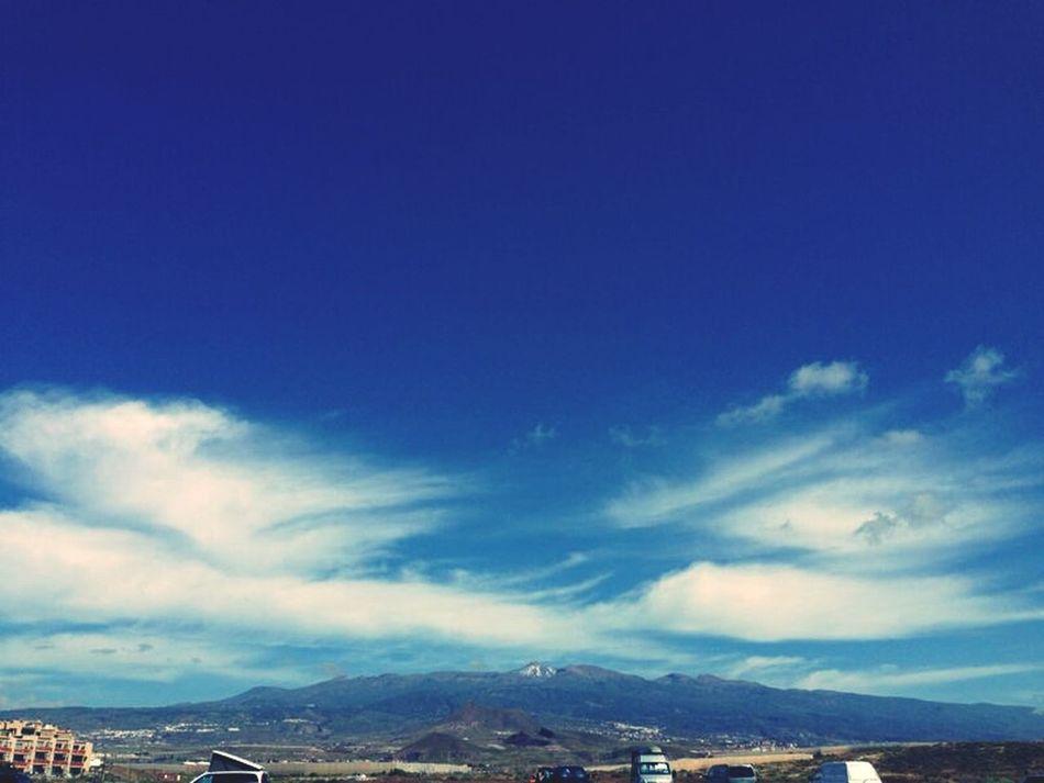 Playa La Tejita, día de playa con el Teide aún nevado de fondo Quesuerteviviraqui Enjoying Life Nature_collection Clouds And Sky