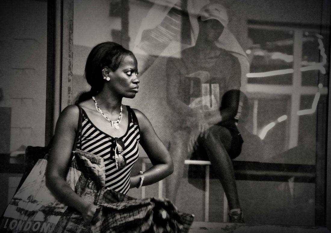 Waiting of the end of the rain Black And White Caribbean Cuba, Cuban Women People Santiago De Cuba, Street Photography Street,