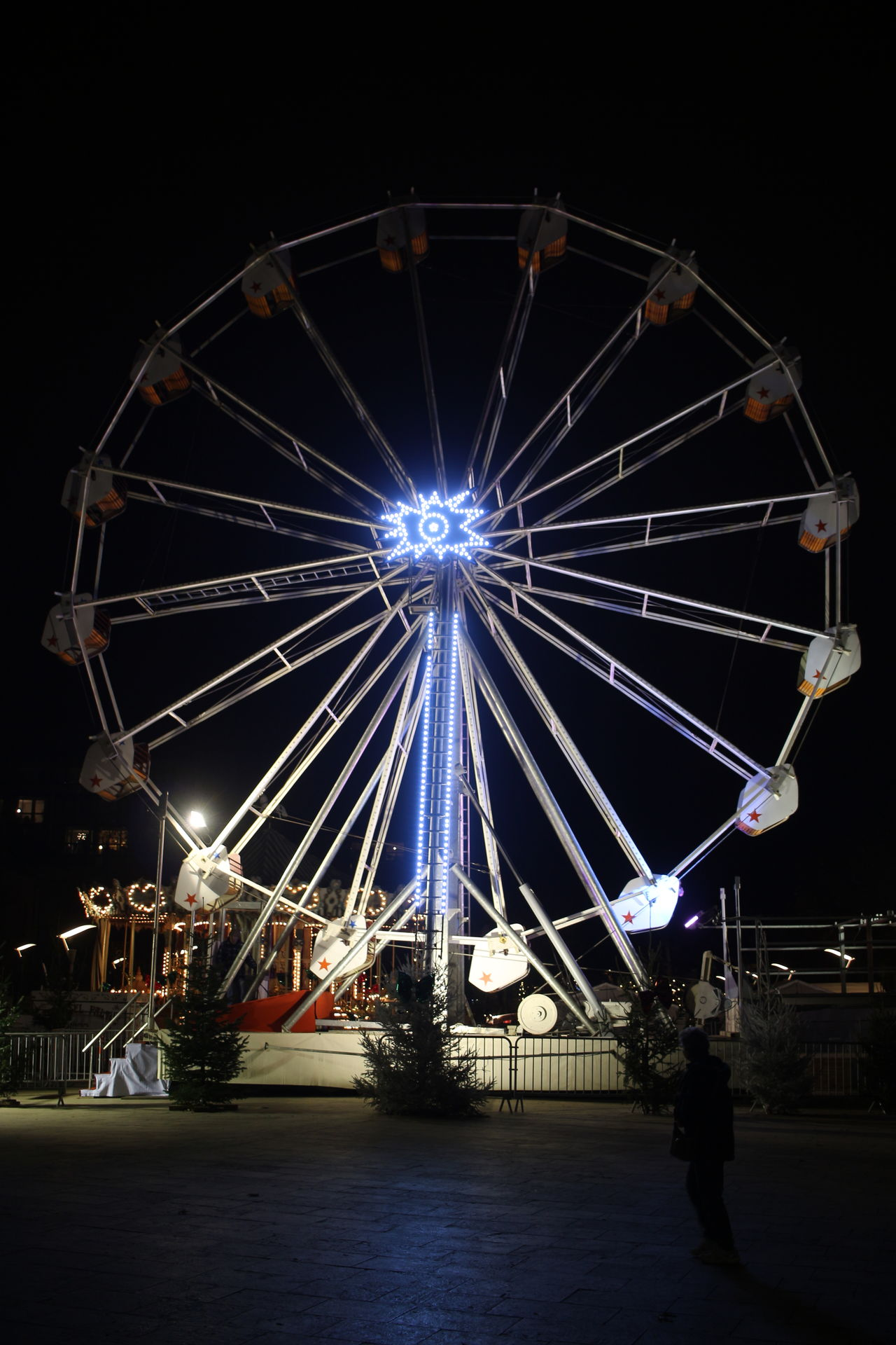 at chrismas market Montauban, France Architecture Celebration City Cultures Ferris Wheel Firework - Man Made Object Firework Display Illuminated Night No People Outdoors Sky