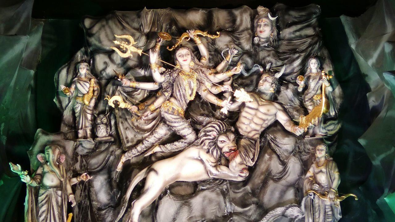 NewToEyeEm GoddessDurga Navratri2016 RedmiNote3Camera Religion Place Of Worship Cultures EyeEm Durga Idol
