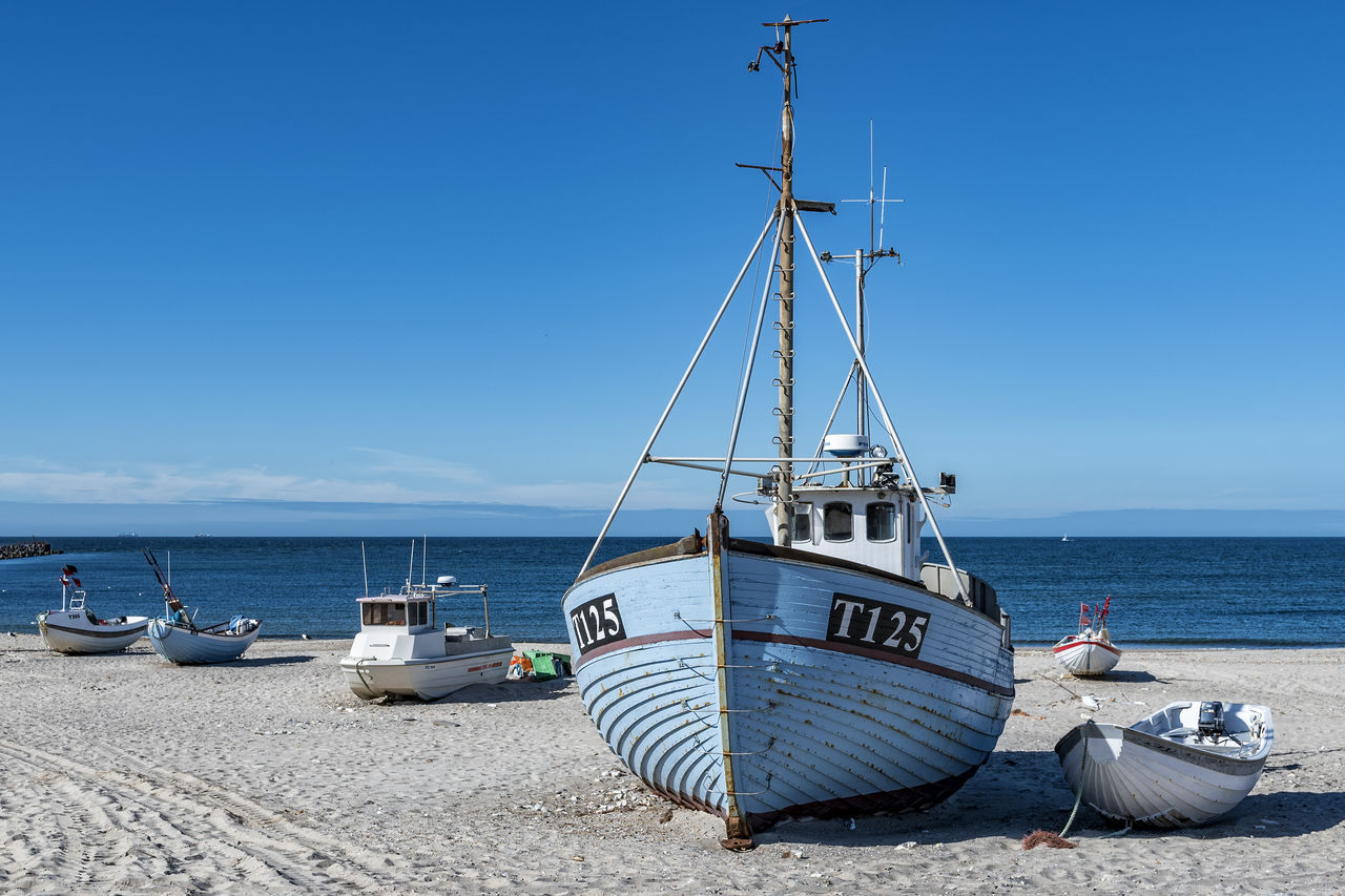northsea coast Beach Beauty In Nature Blue Boat Clear Sky Day Horizon Over Water Mast Mode Of Transport Moored Nature Nautical Vessel No People Northsea Northsea Northsea Coast Outdoors Scenics Sea Sky Sunlight Tranquil Scene Tranquility Transportation Water
