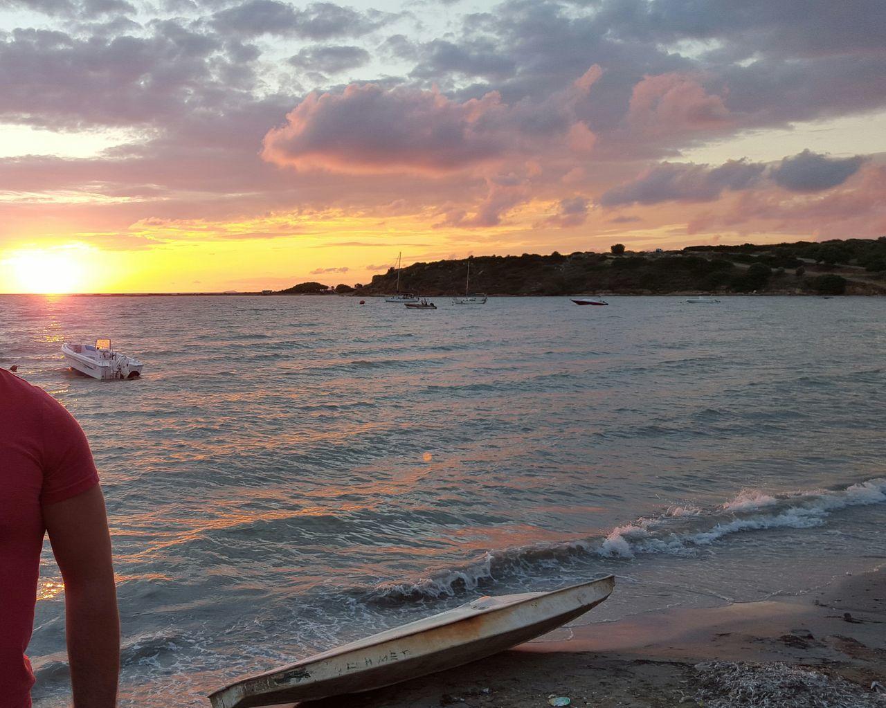 Amazing Sunlight Turkey Aydin Sea Beach Sun Boat Travel Rock Aydin/Turkey Sunfall Noedit Nofilter