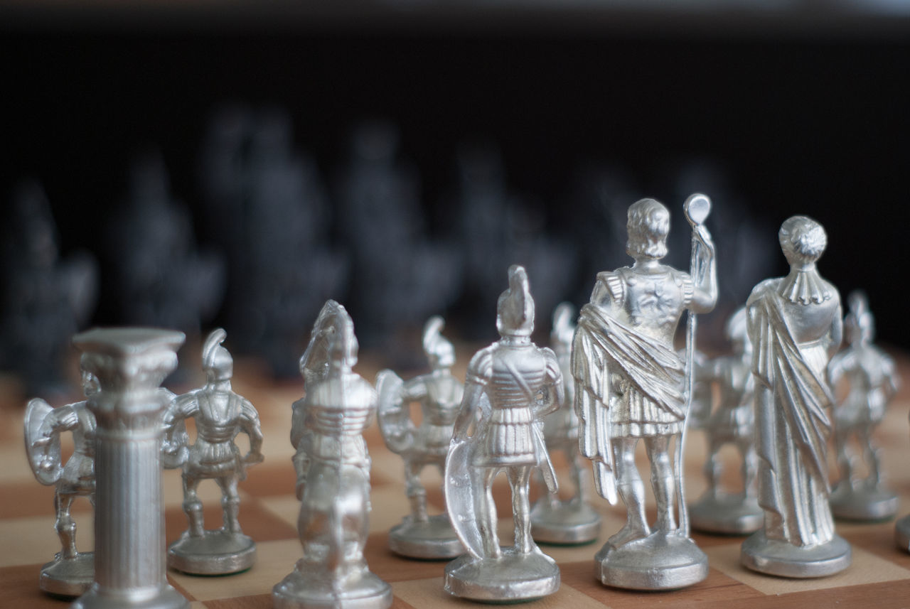 choose your side Chess Chess Board Chess Piece Chessgame Close-up Focus On Foreground Gladiators Greek Indoors  King - Chess Piece Knight - Chess Piece Large Group Of Objects Lightside No People Pawn - Chess Piece Queen - Chess Piece Strategy Tactical Tactics War