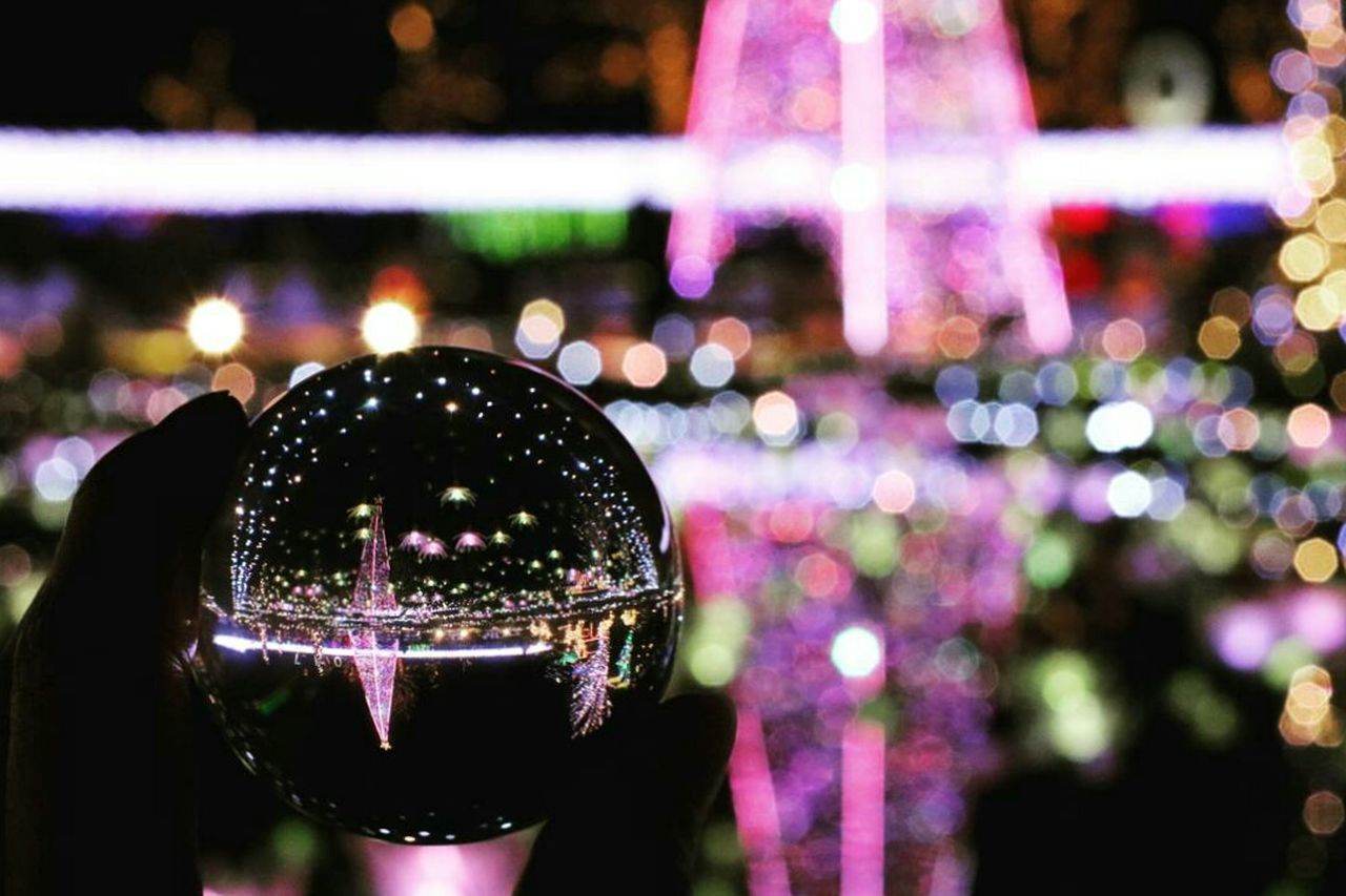 Illuminated Night Celebration Garden Glassball Glass Reflection Close-up Tochigi.japan Japanese Girl ファインダー越しの私の世界 写真撮ってる人と繋がりたい カメラ好きな人と繋がりたい カメラ女子 Light Effect Lightup Event