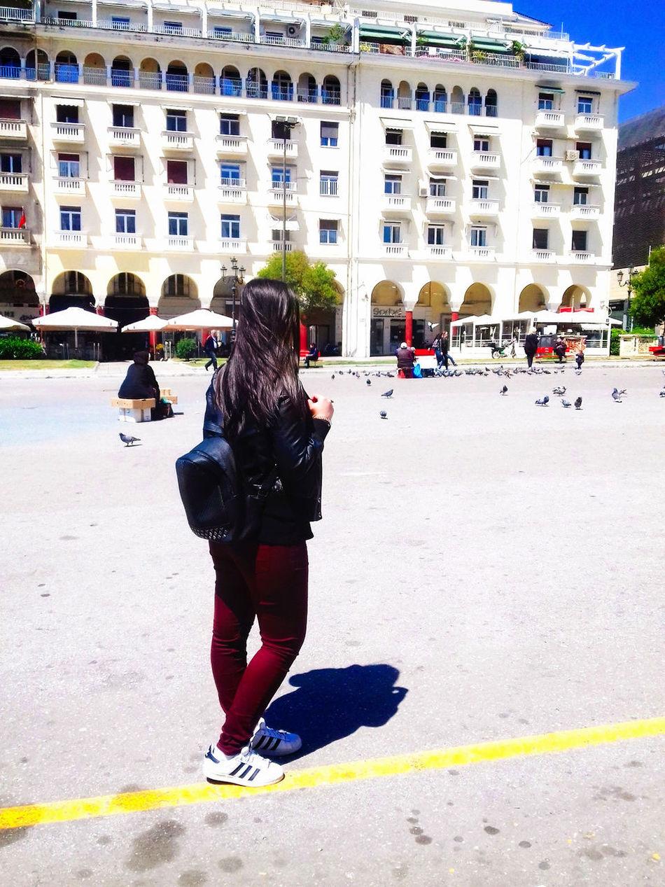 Me In Thesaloniki Aristotelous Square Sun Sunny Day Outdoors