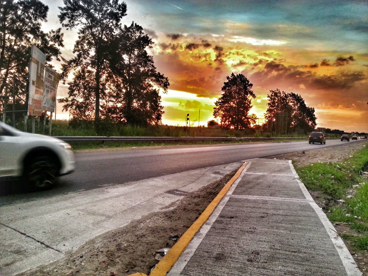 Photography Twilight Road Palomar Buenosaires Argentina