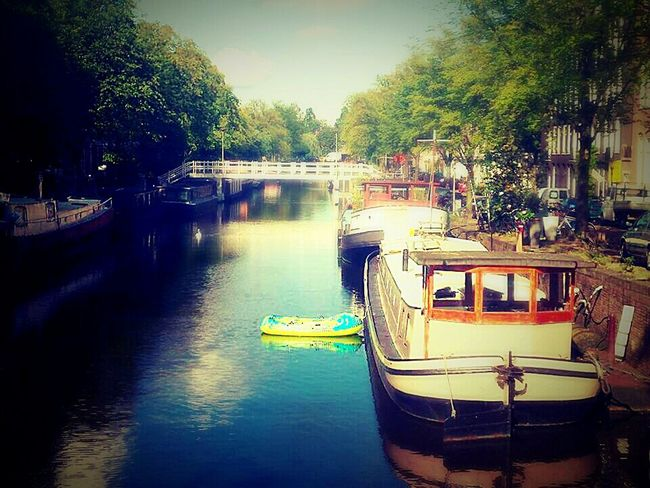 Boat Amsterdam Hollyday Holliday With Friends Netherlands ❤ At The Canal At The River Funny Boat The Great Outdoors - 2016 EyeEm Awards