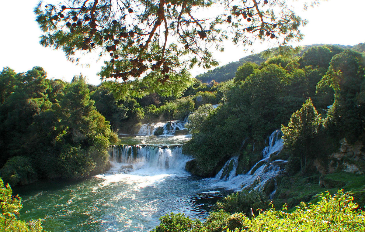 Krk Waterfalls, near Sibenik, Croatia River Motion Water Nature Sky Tree Day Waterfall Outdoors Forest Tranquility Flowing Water Growth Scenics Beauty In Nature Sibenik No People Krka National Park Tranquil Scene Waterfalls In Croatia