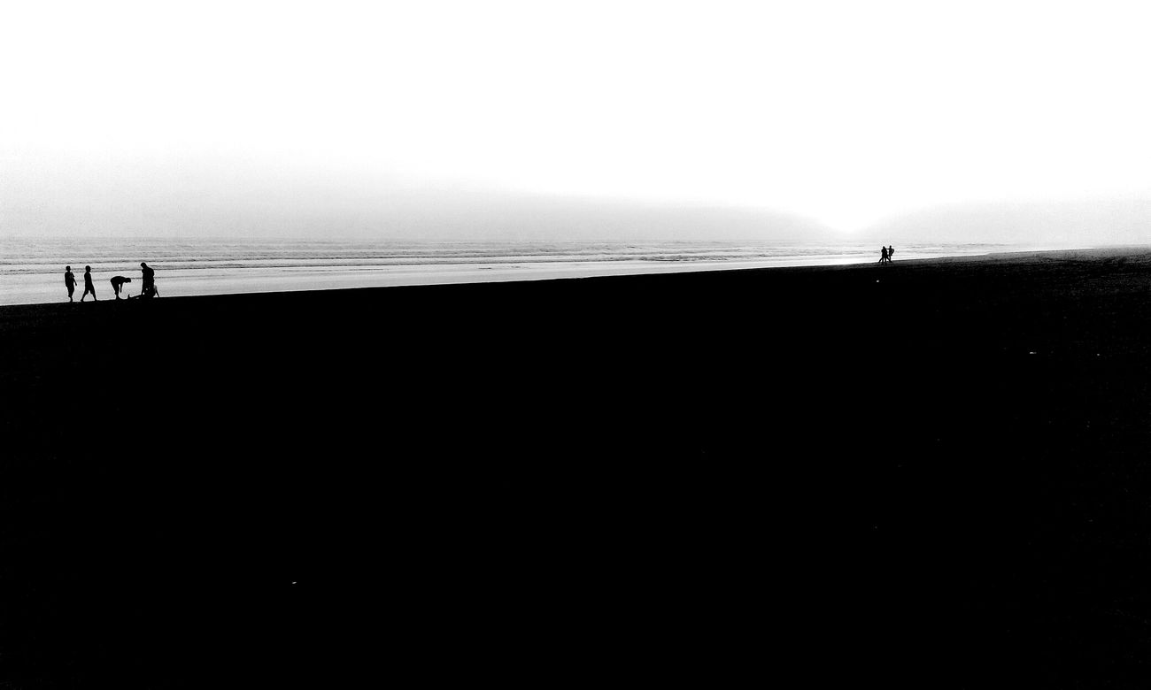 Shades Of Grey Blackandwhite Silhouettes Beach Ozean