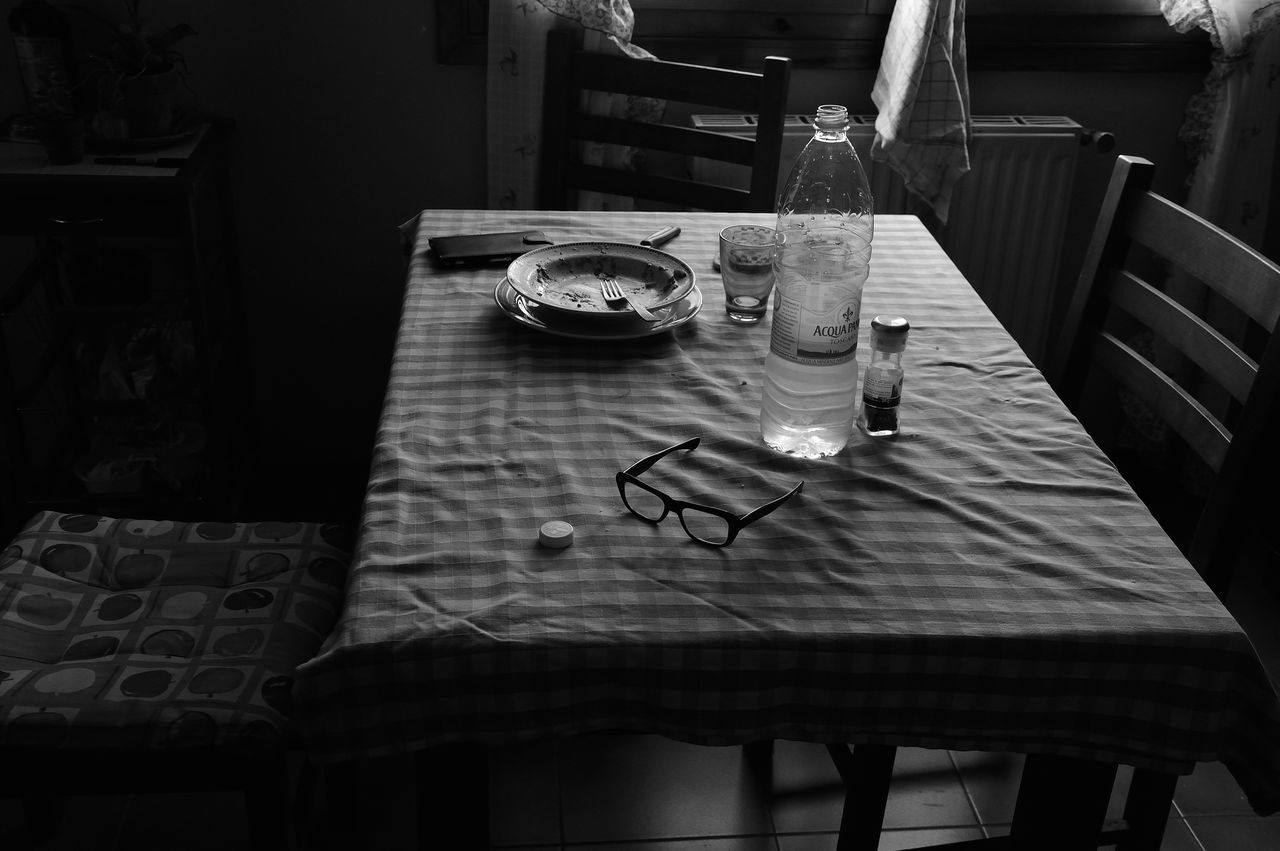 B & W  Glasses Italy Light And Shadow Loneliness Not Sunset Silence Still Life