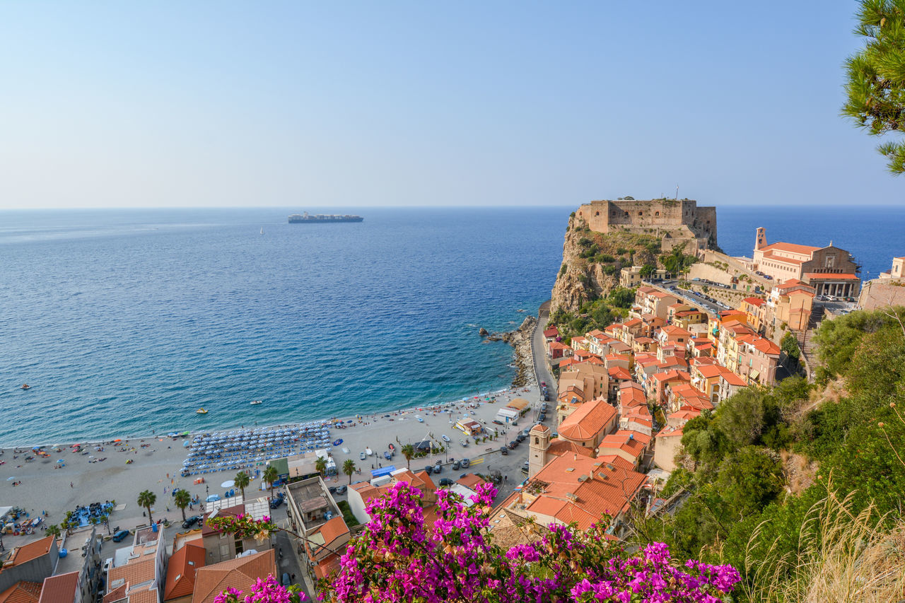 Architecture Calabria Calabria (Italy) Cliff High Angle View History Horizon Over Water Italy Italy Holidays Italy❤️ Nature Outdoors Scenics Scilla Sea Sky Town Travel Travel Destinations Vacations