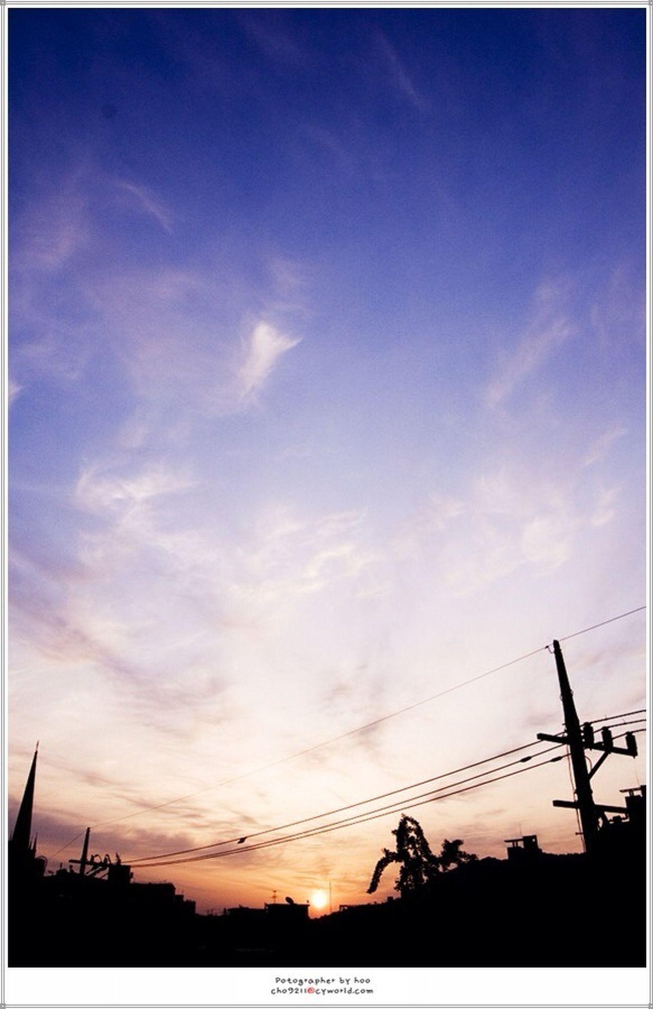 옥상에서 꽤 오래전 Seoul, Korea Sunrise...