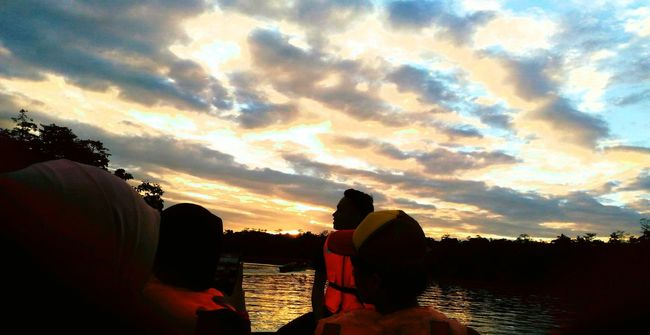 River cruising in my fieldtrip. River View Naturelovers Sunset_collection Sunset #sun #clouds #skylovers #sky #nature #beautifulinnature #naturalbeauty Photography Landscape [a:5326392] Sunset Friendship. ♡   Fieldtrip Check This Out Kinabatangan River Teammatebonding EyeEm Nature Lover EyeEm Best Shots - Sunsets + Sunrise EyeEm Gallery Feel The Journey