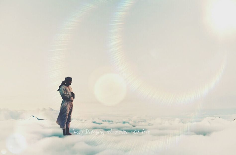 Keep praying wherever you are Check This Out Hello World Cloud Sky FoingSalah Praying MyEditing