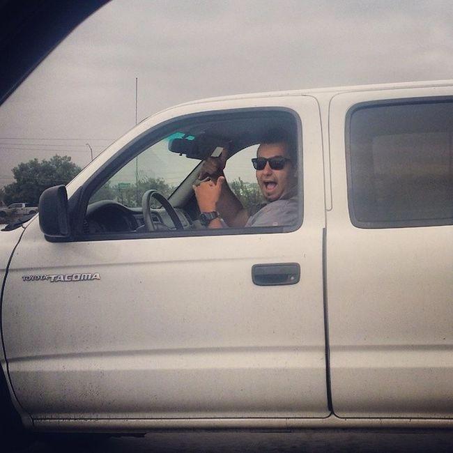 Look!! No hands ? Nohands 91fwy Workrelated Safetyfirst bajabound raceday myfriendsarefunnierthanyours