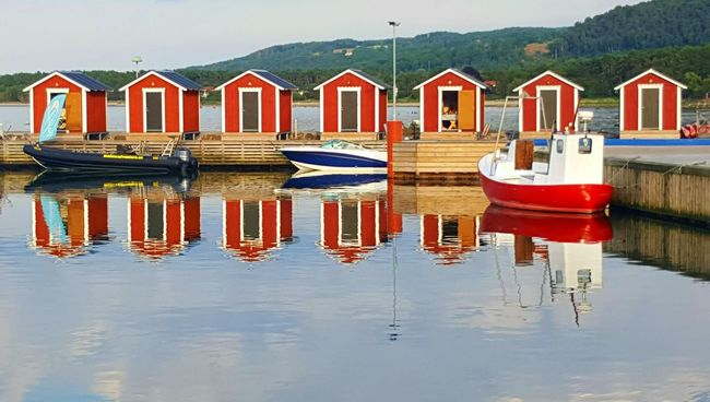 Mirror Mirror Picture Small Houses Boats Reflection Taking Photos EyeEm Best Shots Eye4photography  Check This Out Taking Photos Hello World Sweden Swedish Nature