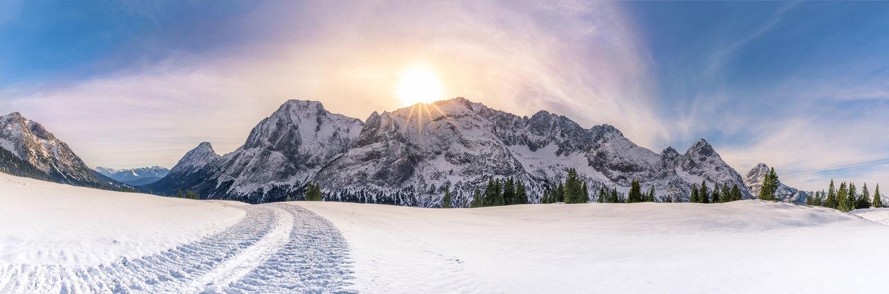 Beautiful stock photos of sunrise, Austria, Ehrwald, Idyllic, beauty In Nature