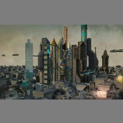 Futuristic Future Scientific Scifi City Yangon Myanmar 3D 3dmodels Buildings Autodesk Autodeskmaya Maya2014 Original Design Render Millionpolygons