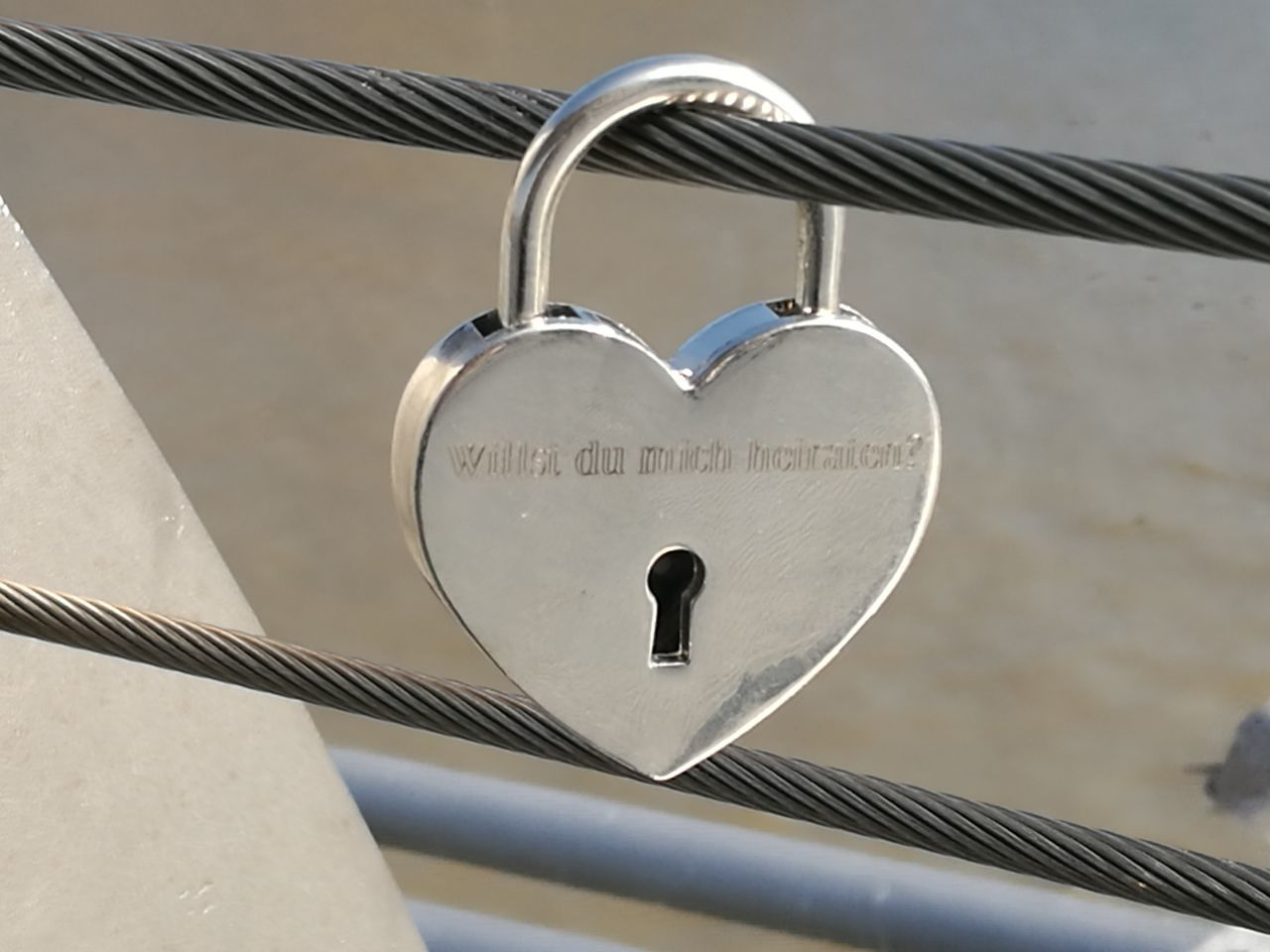 Heart Shape Love Lock Padlock Love Bridge - Man Made Structure Outdoors No People