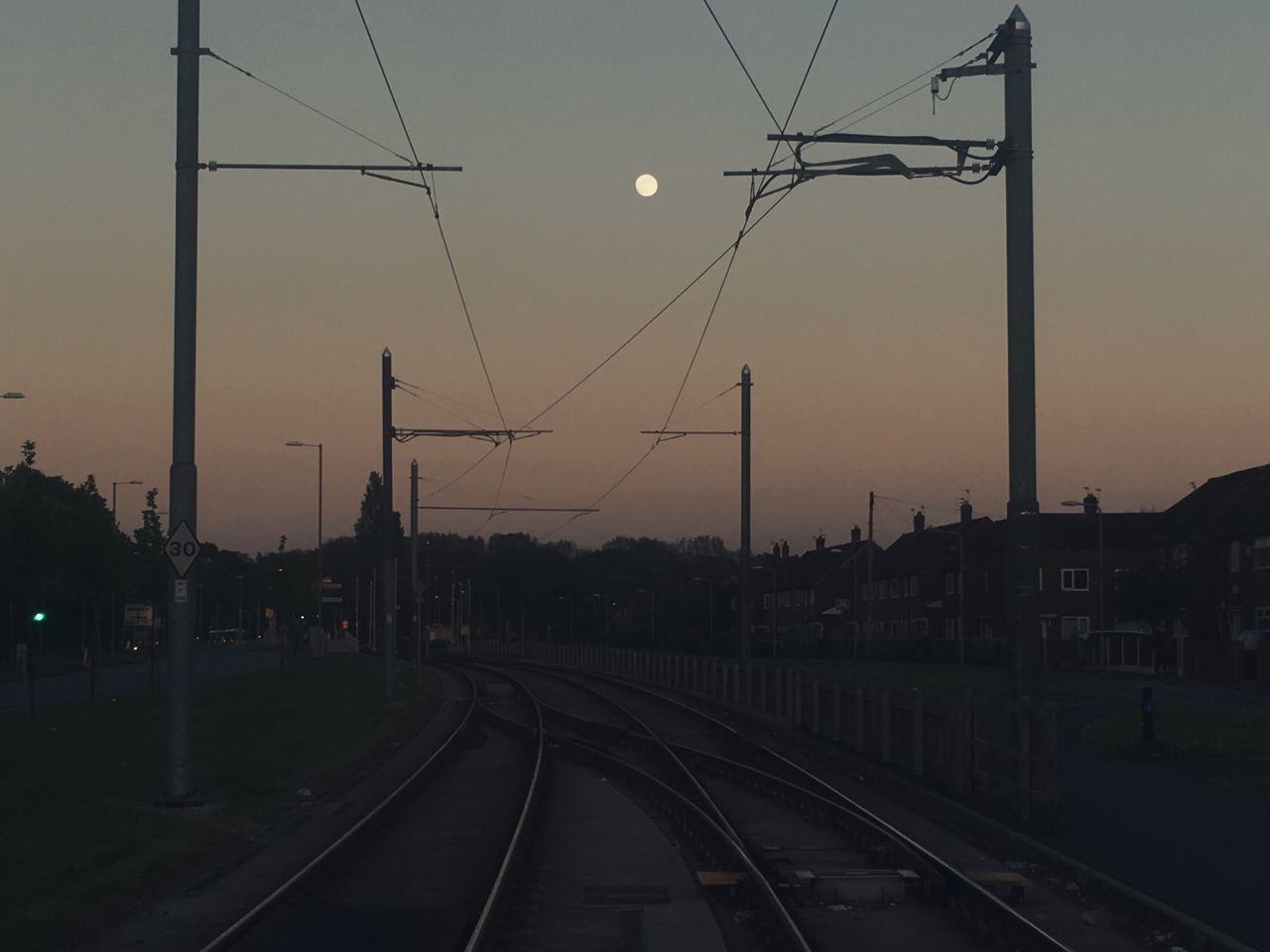 Glow that mind Railroad Track Transportation Cable Connection Rail Transportation Sky Power Line  Electricity Pylon Sunset Electricity  No People Public Transportation The Way Forward Outdoors Built Structure Technology Nature Clear Sky Architecture Day