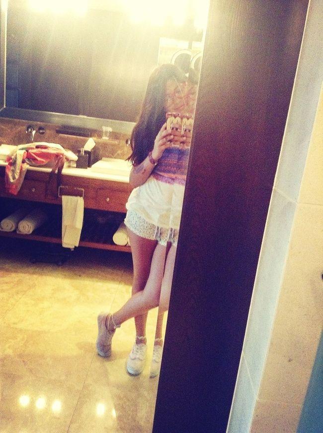 in the bathroom hahaha XD