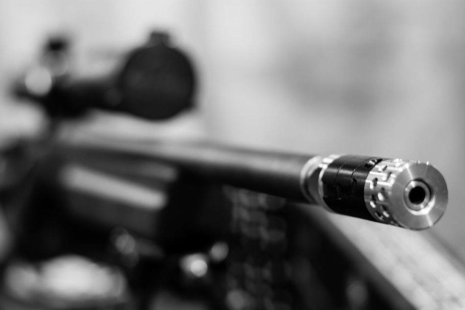 Compensator. Close-up Indoors  Military Army No People Gun Rifle Muzzle Break Compensator Depth Of Field Bokeh Bokeh Photography Barrel Weapon