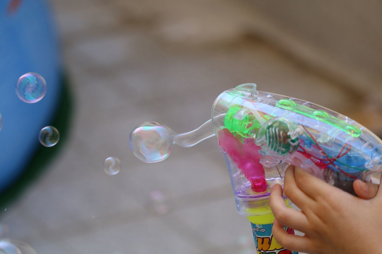 Beautiful stock photos of children,  4-5 Years,  Bubble Gun,  Childhood,  Close-Up