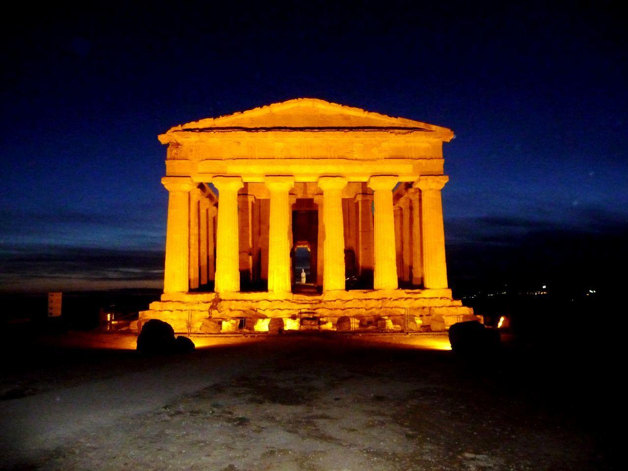 Agrigento Agrigento Sicily Concordia Night Nightphotography Sicilia Tempio Temple Temples Templi Valle Dei Templi