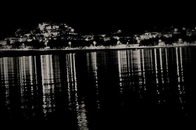 Night Sea Black And White Black & White